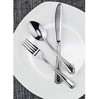 Winco Dots 3 Dozen Flatware Set, Extra Heavy 18-0 Stainless Steel Classic Old-Fashioned Dinner Spoons (Dozen Pack), Dinner Forks (Dozen Pack) and Dinner Knives (Dozen Pack), 36-Piece Set
