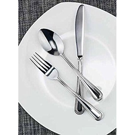 Forks And Spoons (Winco Dots 3 Dozen Flatware Set, Extra Heavy 18-0 Stainless Steel Classic Old-Fashioned Dinner Spoons (Dozen Pack), Dinner Forks (Dozen Pack) and Dinner Knives (Dozen Pack), 36-Piece)
