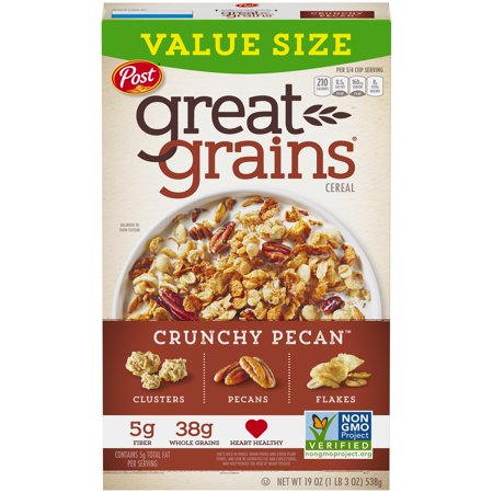 Post® Great Grains® Crunchy Pecan™ Cereal 19 oz. (Post Oreo Os Cereal 19 Oz Box)