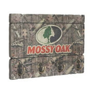 Mossy Oak Hanging Key Rack, Four Antique Brass Hooks MO-65307
