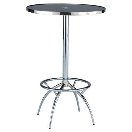 Creative Images International Marcella Bar Table   Black   Chrome