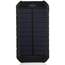 Solar Charger, Portable Power Bank 10000mAh Dual USB Batt...