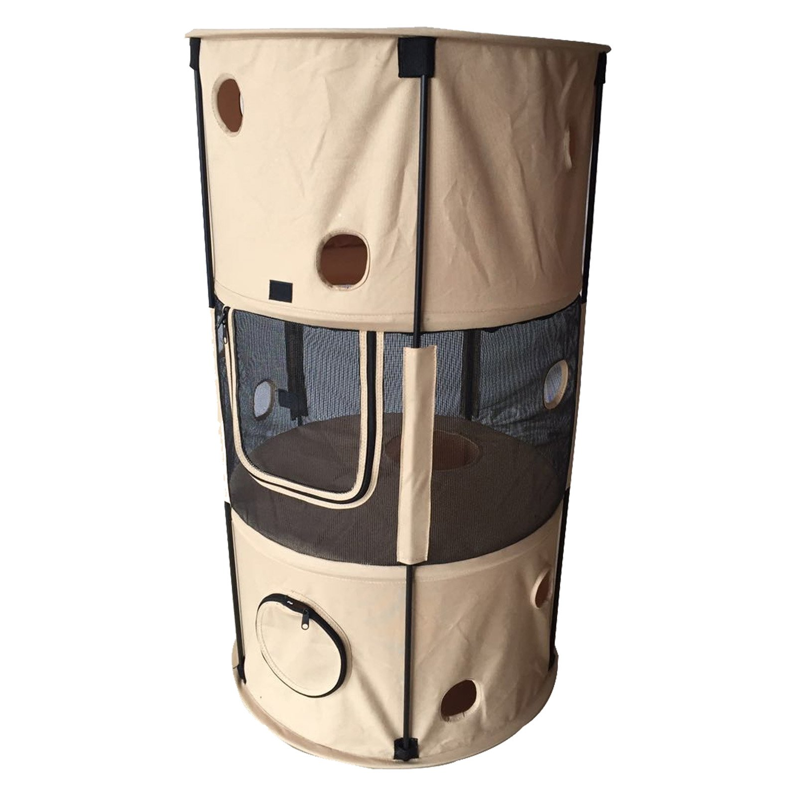 Pet Life Climbertree Obstacle Play-Active Collapsible Cat House