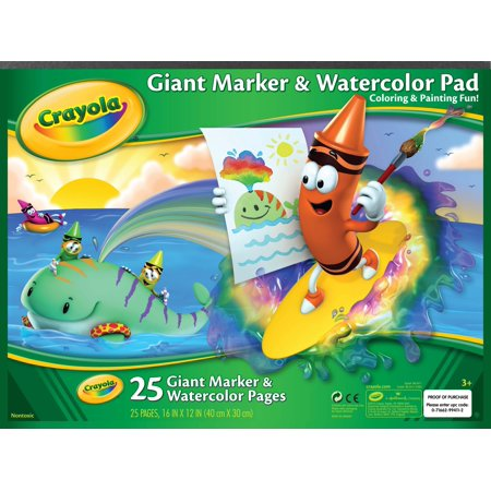 Crayola Giant Marker and Watercolor Pad, 25 pages