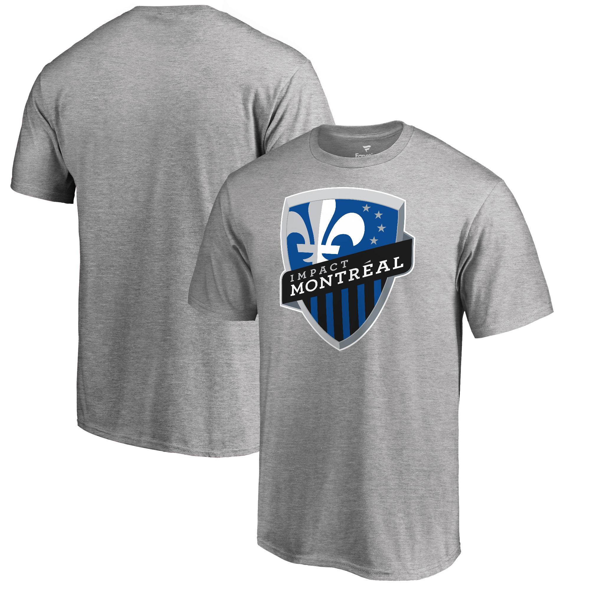 Montreal Impact Fanatics Branded Primary Logo T-Shirt - Heathered Gray
