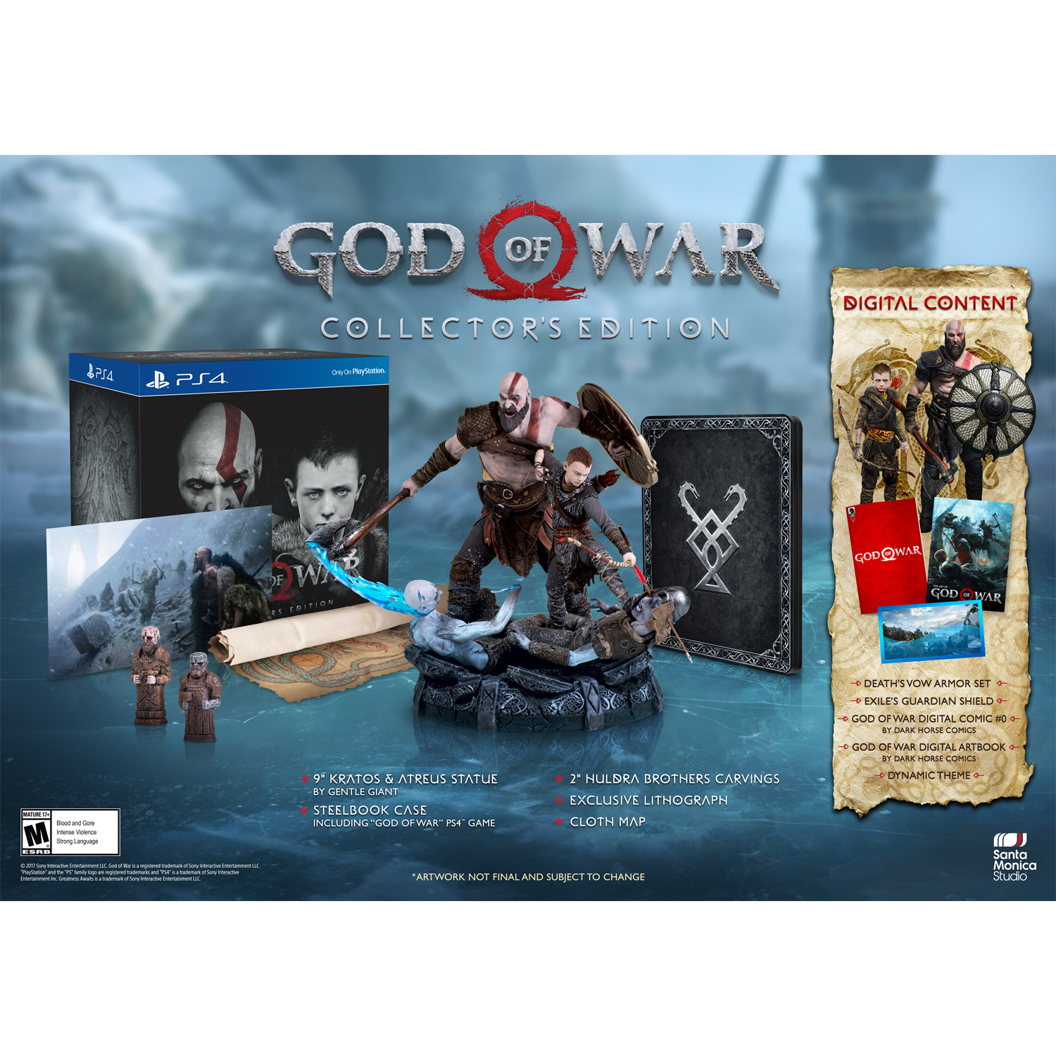 God of War Collectors Edition, Sony, PlayStation 4, 711719512226