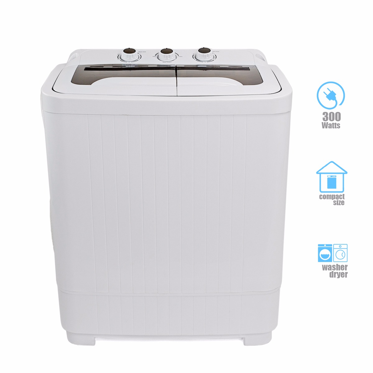 Mini Washer Spin Dryer Portable Compact Laundry Combo Rv