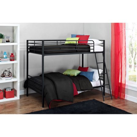 Mainstays Twin over Twin Convertible Bunk Bed, Multiple Colors with Slumber 1 6