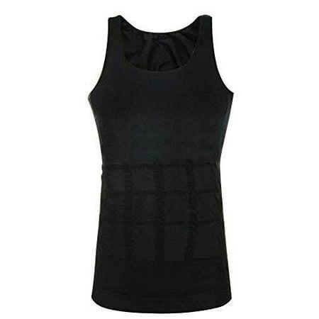 Men Elastic Slimming body shaper Vest Shirt Lose Weight Underwears - XL