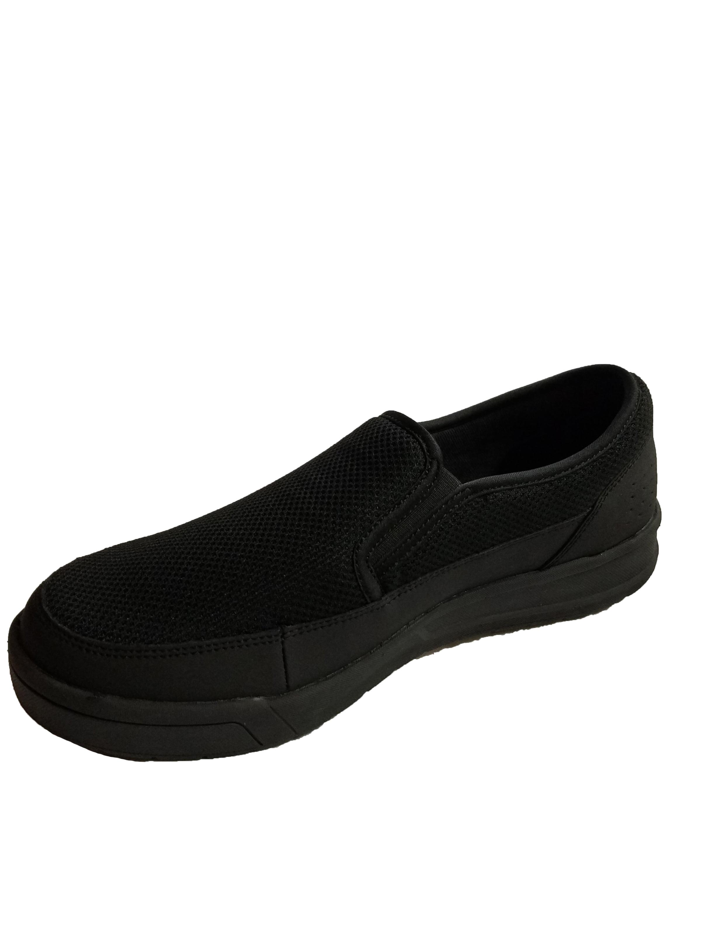 SKECHERS Work Men's Glenner - Spahl SR Black Leather/Mesh Loafer (Black/Black, 10.5 D(M) US)