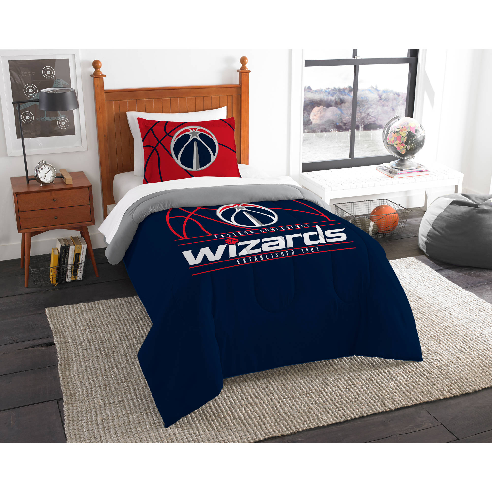 "NBA Washington Wizards ""Reverse Slam"" Bedding Comforter Set"