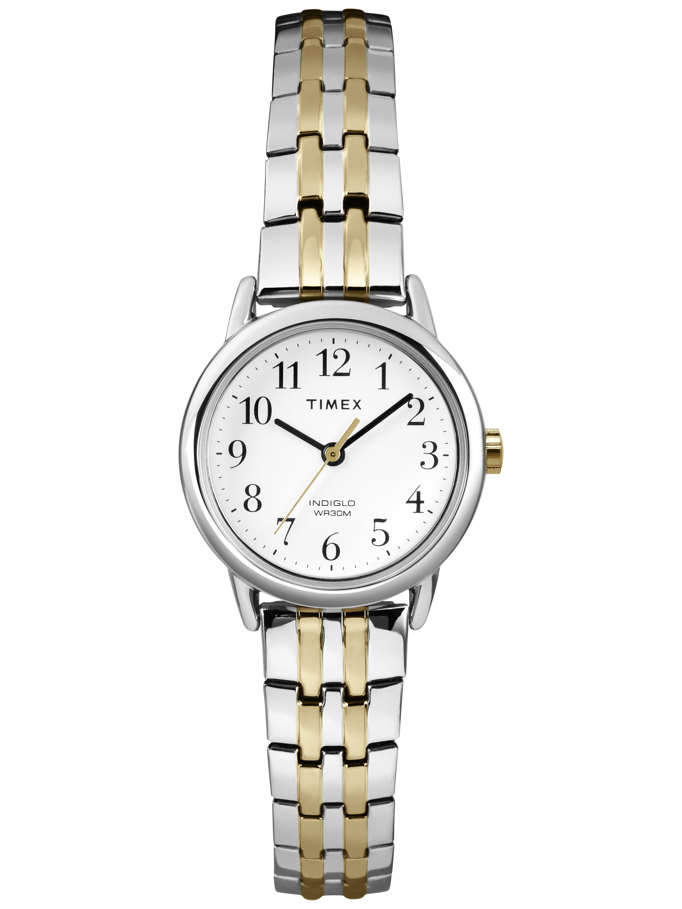 Timex Women's Easy Reader Dress Watch, Two-Tone Stainless Steel Expansion Band by Timex