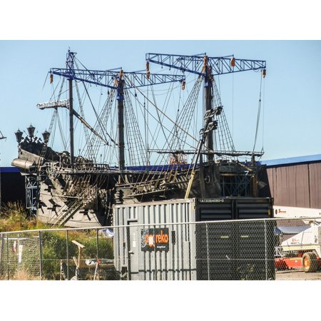 Canvas Print Boat Film Set Ship Model Galleon Pirate Stretched Canvas 10 x (Galleon Pirate Ship)