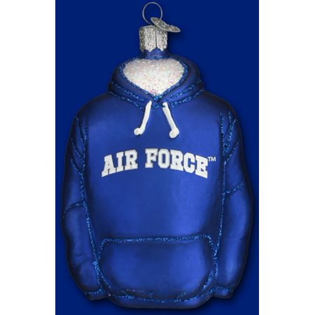 Old World Christmas US Air Force Academy Falcons Hoodie Glass Ornament USAF New ()