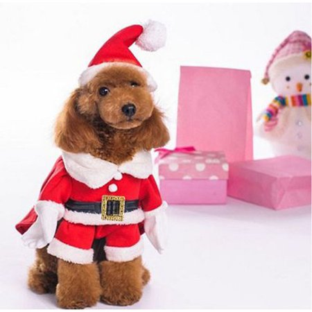 KABOER Dog Cat Christmas Santa Claus Costume Funny Pet Cosplay Costumes Suit with a Cap Puppy Outfits Warm Coat Animal Festival Apparel Pet Clothes](Renaissance Festival Outfits)