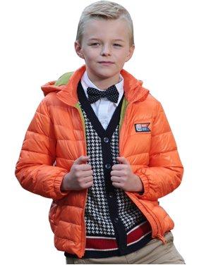 Leo&Lily Big boys Winter Packable Down Jacket Outwear Coat (Blue, 10)