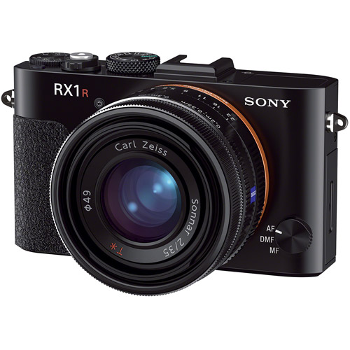 Sony Black Cyber-shot RX1R Digital Camera with 24.3 Megapixels and 2x Optical Zoom