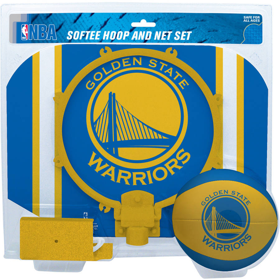 Rawlings NBA Slam Dunk Softee Hoop Set Golden State Warriors