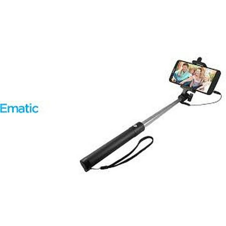 Ematic Extendable Selfie Stick with Camera Button