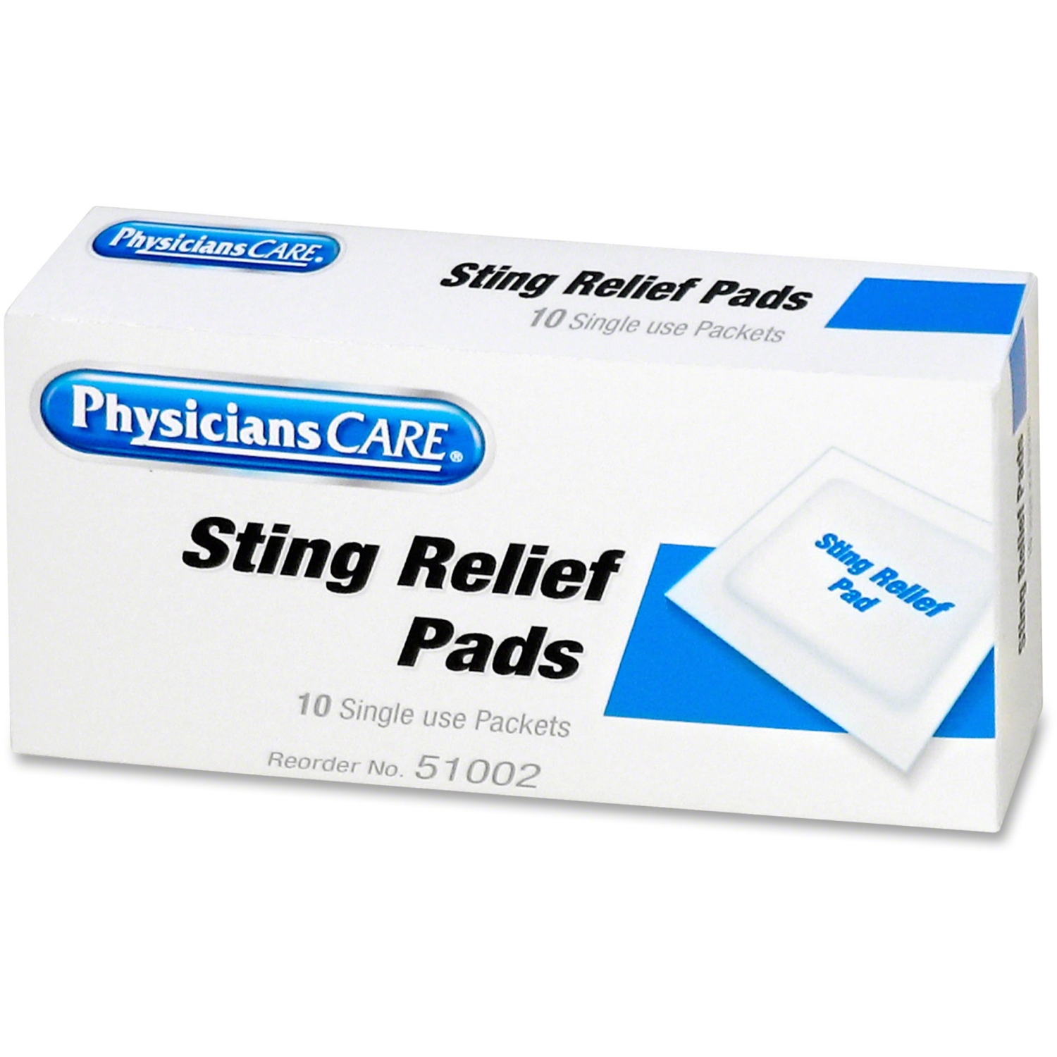 PhysiciansCare by First Aid Only First Aid Sting Relief Pads, 10/Box