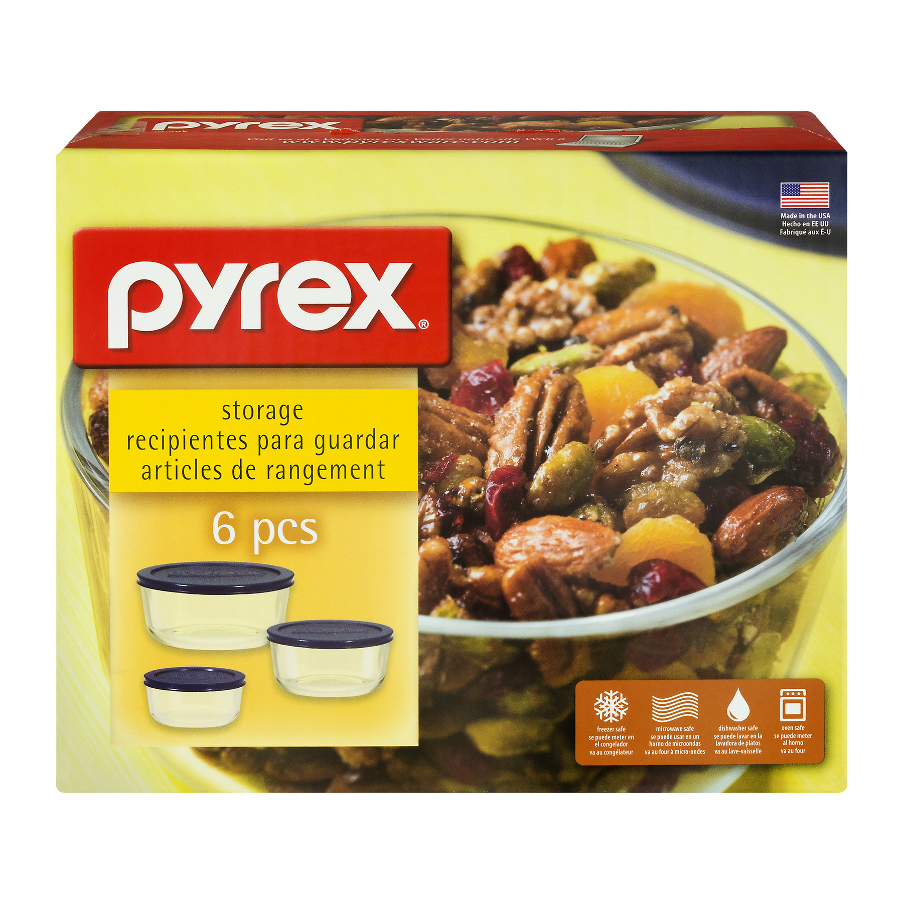 Pyrex Storage - 6 PC, 6.0 PIECE(S)