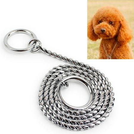 - 50cm x 3mm Pet P Chain Pet Collars Pet Neck Strap Dog Neckband Snake Chain Dog Chain Dog Collar
