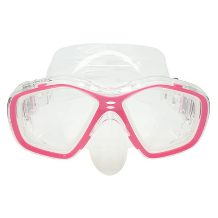 Palantic Pink Jr. Diving/Snorkeling Prescription Dive Mask with RX Lenses - Prescription Contact Lens Halloween