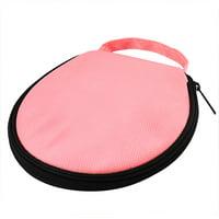 Unique Bargains 20 Disc Round Strap Design Nylon CD DVD Album Holder Bag Wallet Storage Case Organizer Pink