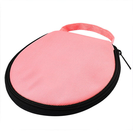Unique Bargains 20 Disc Round Strap Design Nylon CD DVD Album Holder Bag Wallet Storage Case Organizer Pink