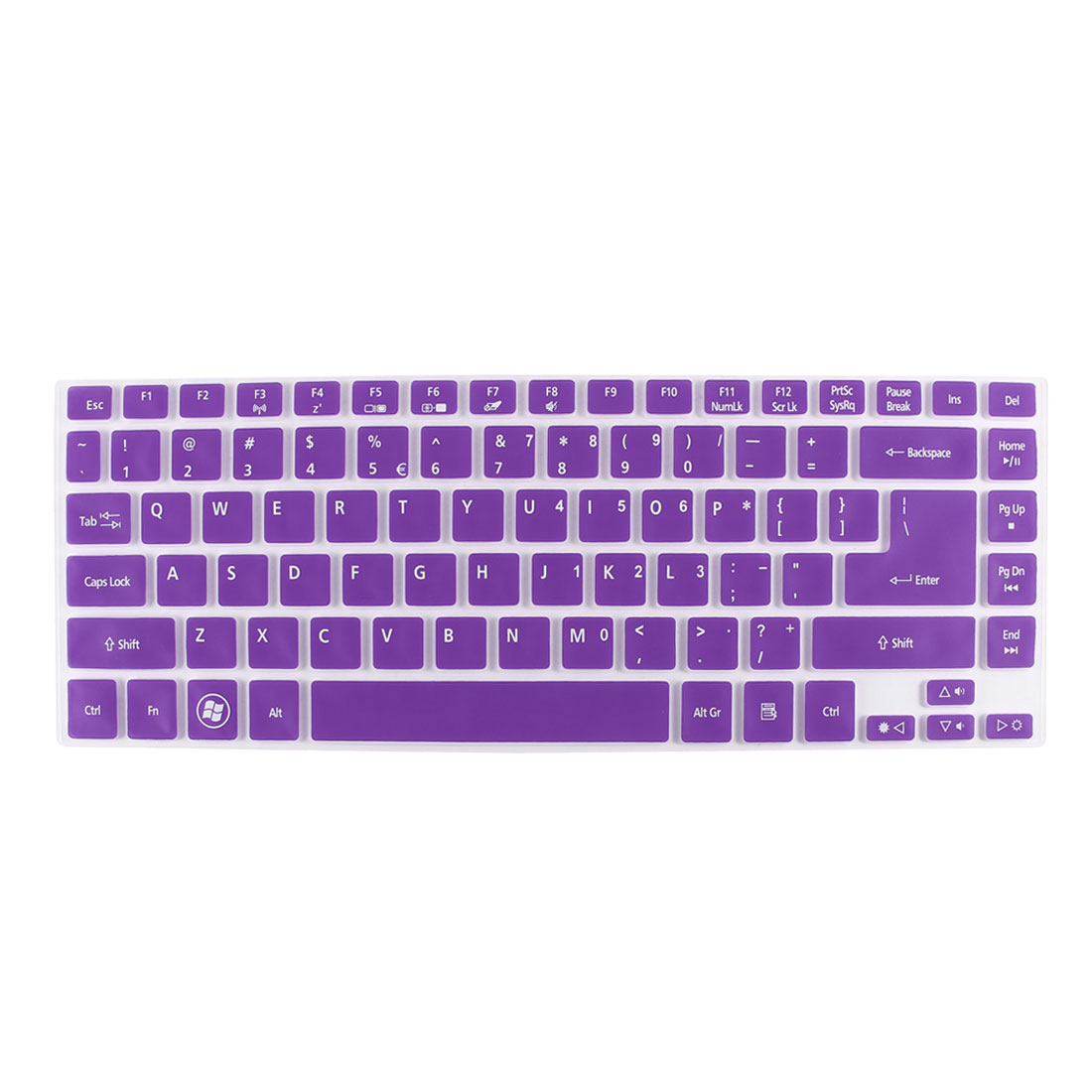 Unique Bargains Notebook Dustproof Protector Film Keyboard Cover Purple Clear for Acer V3-471G