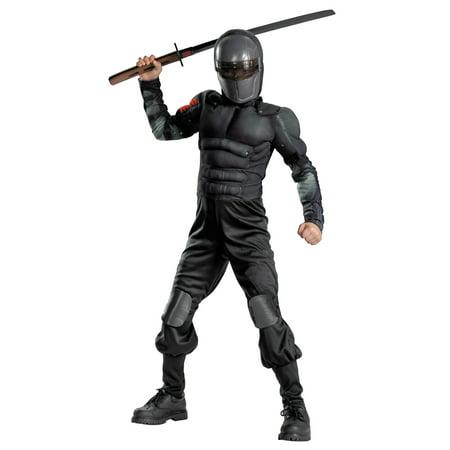 I Love The 80s Halloween Costumes (Boy's Snake Eyes Classic Muscle Halloween Costume - G.I. Joe)
