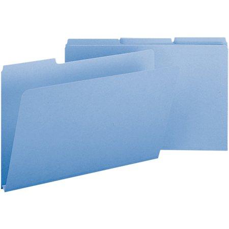 Smead, SMD22530, 1/3 Cut Colored Pressboard Tab Folders, 25 / Box, Blue 1/3 Cut Pressboard Self Tab