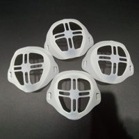 Face Cover Silicone mask Bracket Inner Support Frame Homemade Cloth Face Cover Cool More Space For Breathing 4pcs