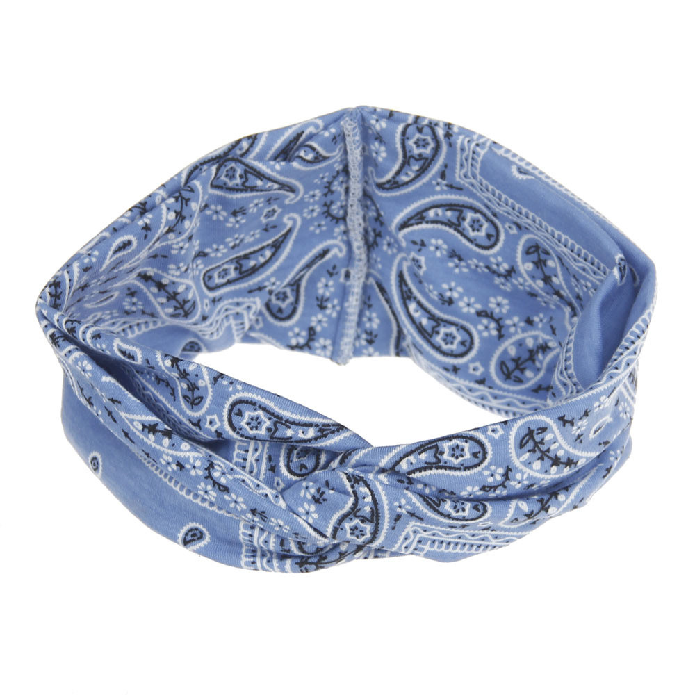 Outtop Women Yoga Sport Elastic Floral Hair Band Headband Turban Twisted Knotted