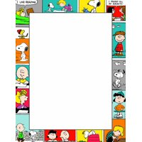 Peanuts Comic Blocks Computer Paper, Package of 50 Sheets (812112), Colorful printer paper dresses up classroom notes By Eureka