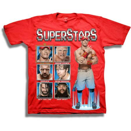 WWE Boys' Splatter Short Sleeve T-Shirt](Boys Converse T Shirts)