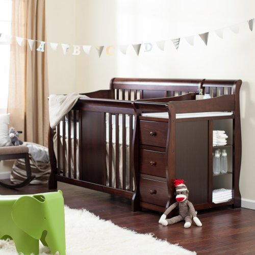 Storkcraft Calabria Crib N Changer, Gray