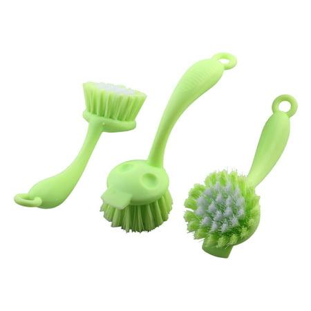 Plastique Restaurant Bo te serole Bo te serole faitout handles l cleaner brosse à récurer 3pcs - image 7 de 7