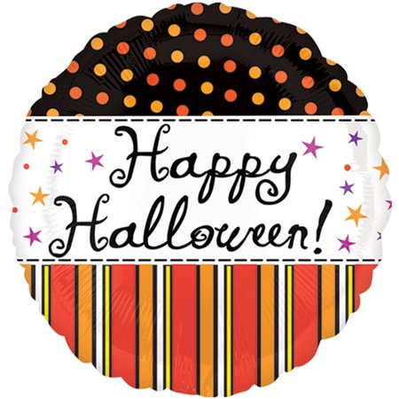 Anagram Vintage Cursive Happy Halloween Polka Dotted 18