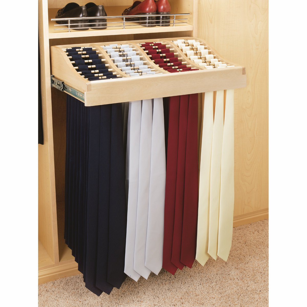 Rev-A-Shelf RCWTR-2414-1 24 in. Classic Tie Rack with Slides and Hardware