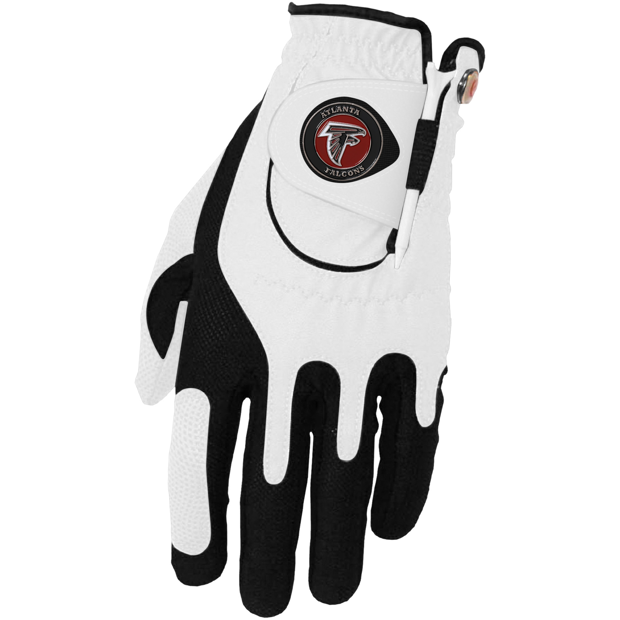 Atlanta Falcons Left Hand Golf Glove & Ball Marker Set - White - OSFM