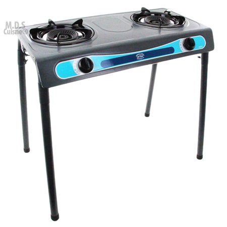 Double Head Propane Gas Burner Portable Stand Camping Outdoor Stove