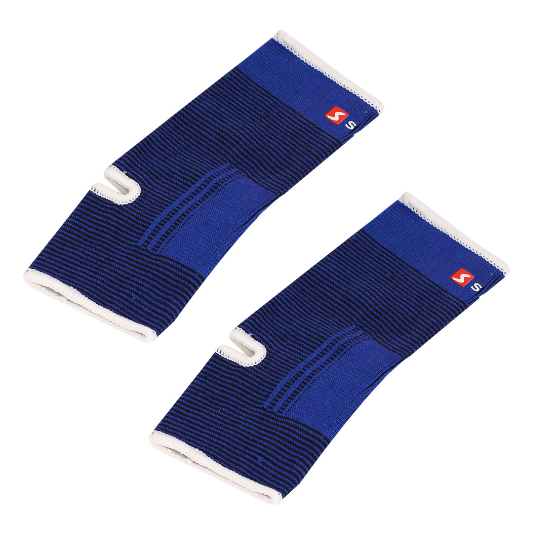 Sports Relief Pain Foot Wrap Sleeve Elastic Ankle Support Brace Blue