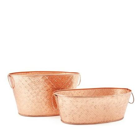 Old Dutch International Galvanized Beverage Tub Set](Copper Buckets)