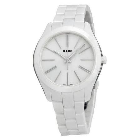 Rado HyperChrome White Dial Stainless Steel and Ceramic Case Ceramic Bracelet Ladies Watch R32321012 Rados 1 Handle