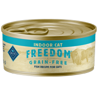 Blue Buffalo Freedom Grain Free Natural Adult Pate Wet Cat Food, Indoor Fish, 5.5-oz cans