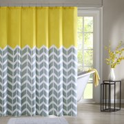 Intelligent Design Nadia Shower Curtain 72x72 Yellow