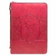 Christian Art Gifts 364110 Bible Cover-Fashion & Faith - Large - Coral