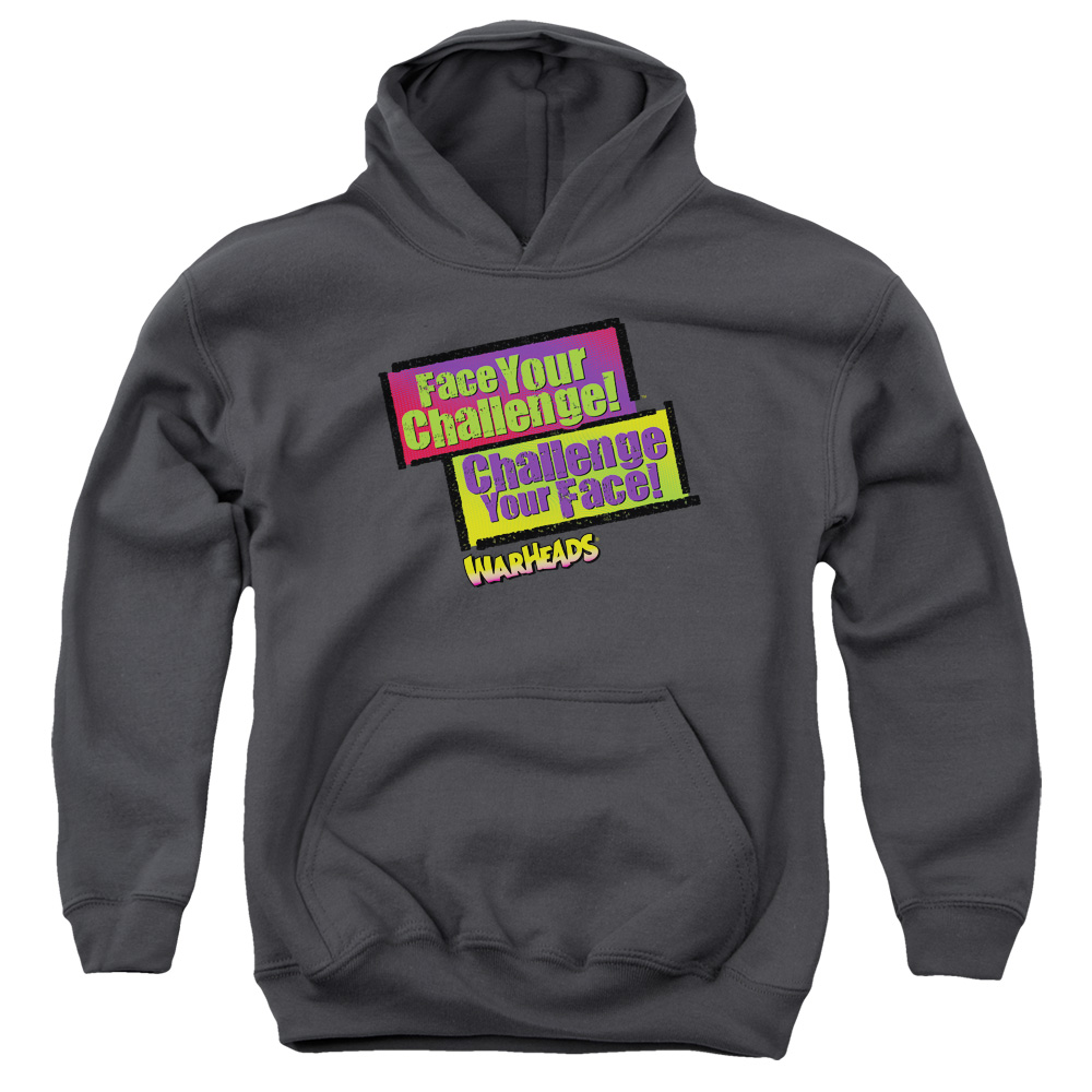 Warheads Face Your Challenge Big Boys Pullover Hoodie