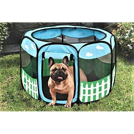Pet Puppy Dog Playpen Exercise Pen Kennel Tent Play Pen Foldable Indoor (Marshall Ferret Playpen)